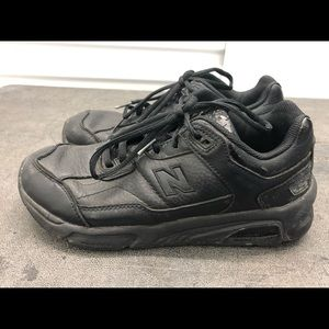 New Balance 925BK Black Leather Sneakers Size 9.5B